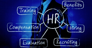 HR Blueprint - Man pointing to different HR Functions
